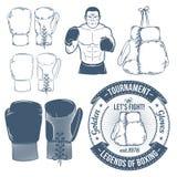 Перчатки бокса иллюстрация вектора