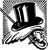 Перчатки верхней шляпы и тросточка 2 иллюстрация вектора