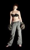 перчатки девушки бокса Стоковые Изображения RF