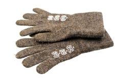 Перчатки детей изолированные на белой предпосылке Стоковая Фотография