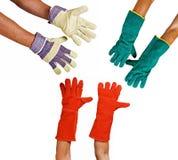 перчатки защитные стоковое фото rf