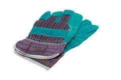 перчатки изолировали белизну предохранения стоковое изображение