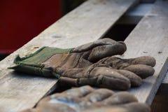 перчатки изолировали белую деятельность стоковая фотография