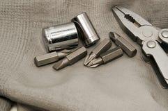 Перчатки и инструменты Стоковые Фотографии RF