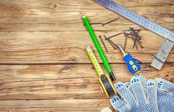 Перчатки и инструменты Стоковое Изображение RF