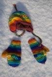Перчатки и крышка Стоковое Фото