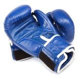 Перчатки и повязки бокса на белой предпосылке Стоковое Изображение