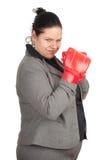 перчатки коммерсантки бокса тучные полные Стоковые Изображения RF