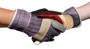 перчатки конструкторов предпосылки белые Стоковая Фотография
