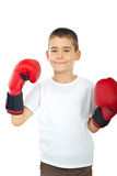 перчатки мальчика бокса самолюбивые Стоковые Фотографии RF
