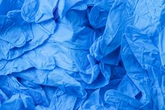 Перчатки нитрила Стоковая Фотография