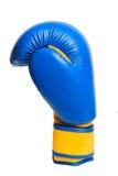 Перчатки одного голубые бокса на белой предпосылке Стоковое Фото