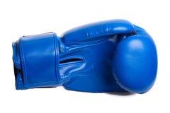 Перчатки одного голубые бокса на белой предпосылке Стоковые Фотографии RF