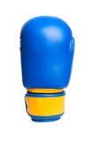 Перчатки одного голубые бокса на белой предпосылке Стоковые Изображения