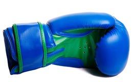 Перчатки одного голубые бокса на белой предпосылке Стоковое Изображение