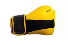 Перчатки одного желтые бокса на белой предпосылке Стоковое фото RF