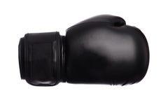 Перчатки одного черные бокса на белой предпосылке Стоковое Изображение