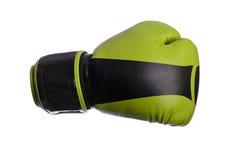 Перчатки одного черные бокса на белой предпосылке Стоковое фото RF