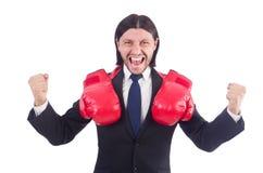 перчатки принципиальной схемы конкуренции бизнесмена бокса агрессивности стоковое фото rf