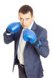 перчатки принципиальной схемы конкуренции бизнесмена бокса агрессивности Стоковые Изображения