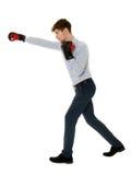 перчатки принципиальной схемы конкуренции бизнесмена бокса агрессивности стоковая фотография rf