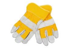 перчатки работая желтый цвет Стоковое фото RF