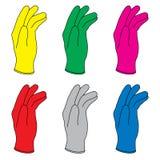 перчатки резиновые иллюстрация штока
