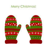 Перчатки рождества иллюстрация вектора