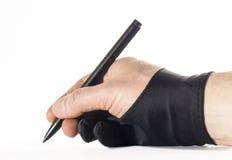 Перчатки руки грифеля Стоковая Фотография