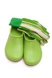 перчатки сада clogs Стоковые Фотографии RF