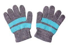 перчатки связали теплое шерстяное стоковое изображение rf