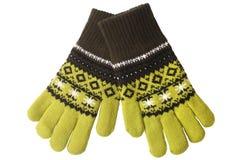 перчатки связали теплое шерстяное стоковые изображения rf