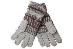 перчатки связали теплое шерстяное стоковая фотография
