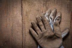 перчатки спаривают работу Стоковое Фото