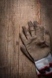 перчатки спаривают работу Стоковое Изображение