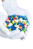 Перчатки с много лекарств Стоковое Изображение