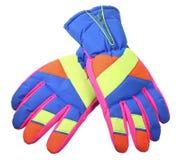 Перчатки лыжи Стоковая Фотография