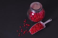 Перчинка концепции специи еды органическая розовая или розовая ягода Стоковая Фотография RF