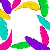 Пер декоративного witn рамки красочные o r бесплатная иллюстрация