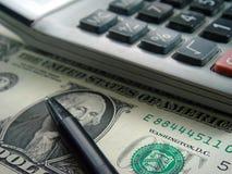 пер доллара чалькулятора счета Стоковые Изображения