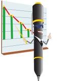 Пер и план-график Ballpoint иллюстрация штока
