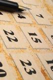 пер календара Стоковая Фотография