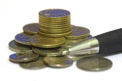 пер монеток Стоковое фото RF