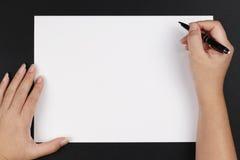 пер рук бумажное Стоковые Изображения