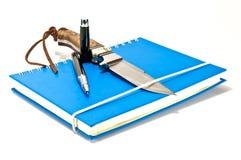 пер тетради ножа Стоковое Изображение