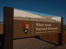 пески памятника Мексики национальные новые белые Стоковые Изображения