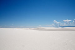 пески памятника национальные белые Стоковое фото RF