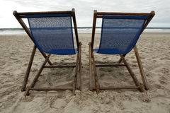 пески 2 стулов Стоковые Фотографии RF