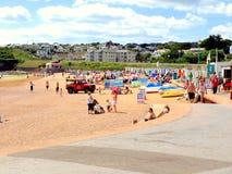 Пески Goodrington, Paington, Девон Стоковое фото RF