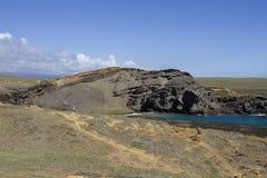 пески papakolea пляжа зеленые стоковые фотографии rf